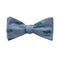 Alligator Bow Tie - Gray, Woven Silk - WHOLESALE
