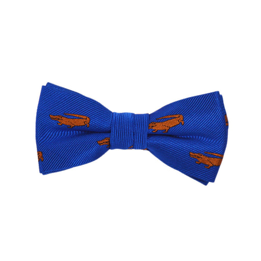 Alligator Bow Tie - Blue, Woven Silk, Pre-Tied for Kids - SummerTies