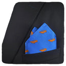 Alligator Pocket Square - Blue - SummerTies