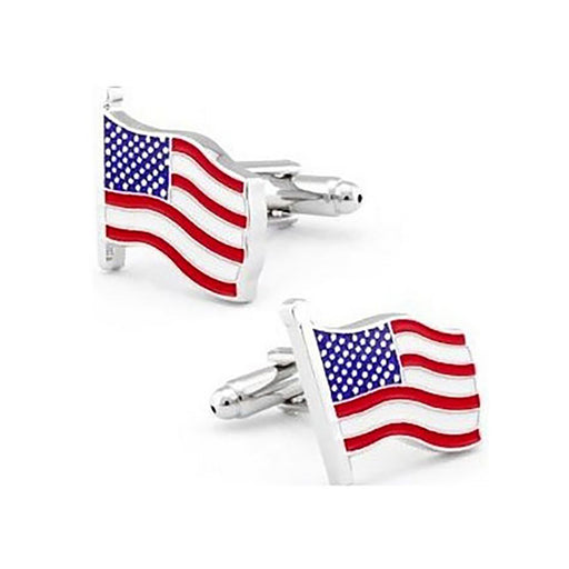 American Flag Cufflinks - In the Wind - SummerTies
