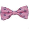 Anchor Bow Tie - Navy on Pink, Woven Silk, Pre-Tied for Kids - SummerTies