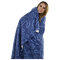 Anchor Dream Fleece Blanket - Blue on Navy - SummerTies