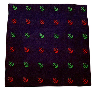 Anchor Pocket Square - Port & Starboard, Woven Silk - SummerTies  - 2