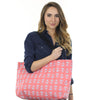 Anchor Weekender Bag - Lt Blue on Coral