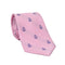 Anchor Necktie - Navy on Pink, Woven Silk - SummerTies