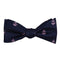Anchor Bow Tie - Pink on Navy, Woven Silk - SummerTies