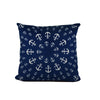 "Anchor Pinwheel Pillow 16"" x 16"" - Faux Suede - SummerTies"