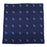 Anchor Pocket Square - Blue on Navy, Woven Silk - SummerTies