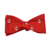 Anchor Bow Tie - Port (Red), Woven - SummerTies