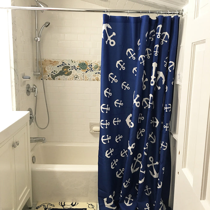 Anchor Pinwheel Shower Curtain - SummerTies