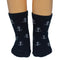 Anchor Socks - Toddler Crew Sock - White on Navy - 5 Pairs - SummerTies