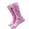 Anchor Socks - Men's Mid Calf - Navy on Pink - SummerTies