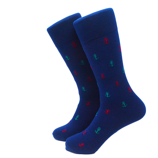 Anchor Socks - Men's Mid Calf - Port & Starboard - SummerTies