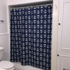 Anchor Toss Shower Curtain - Navy - SummerTies  - 4