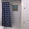 Anchor Toss Shower Curtain - Navy - SummerTies  - 2