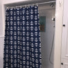 Anchor Toss Shower Curtain - Navy - SummerTies  - 1