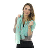 Anchor Toss Long Scarf - Coral on Light Green