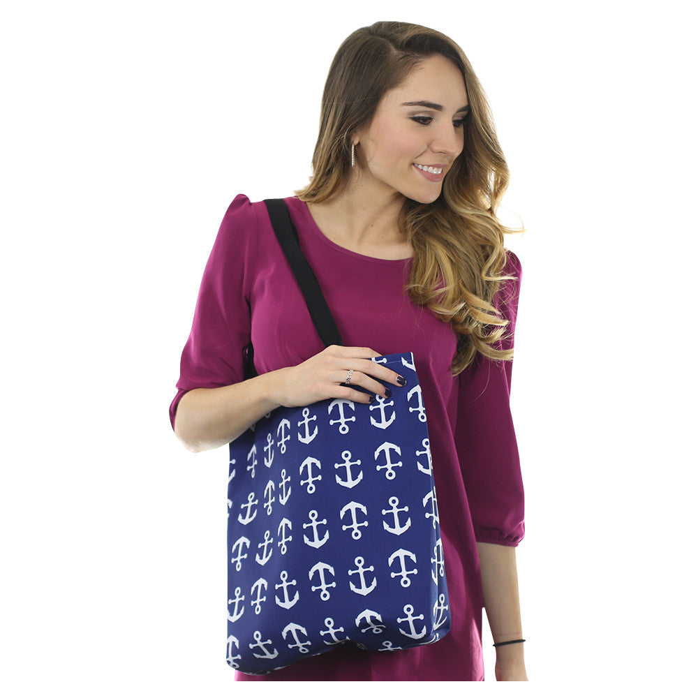 Anchor Toss Tote Bag - Navy - SummerTies