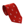 Anchor Necktie - Port (Red), Woven Silk - SummerTies