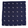 Anchor Pocket Square - Navy, Woven Silk - SummerTies