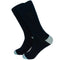 Solid Navy with Aqua Toe and Heel Socks - Men's Mid Calf - SummerTies