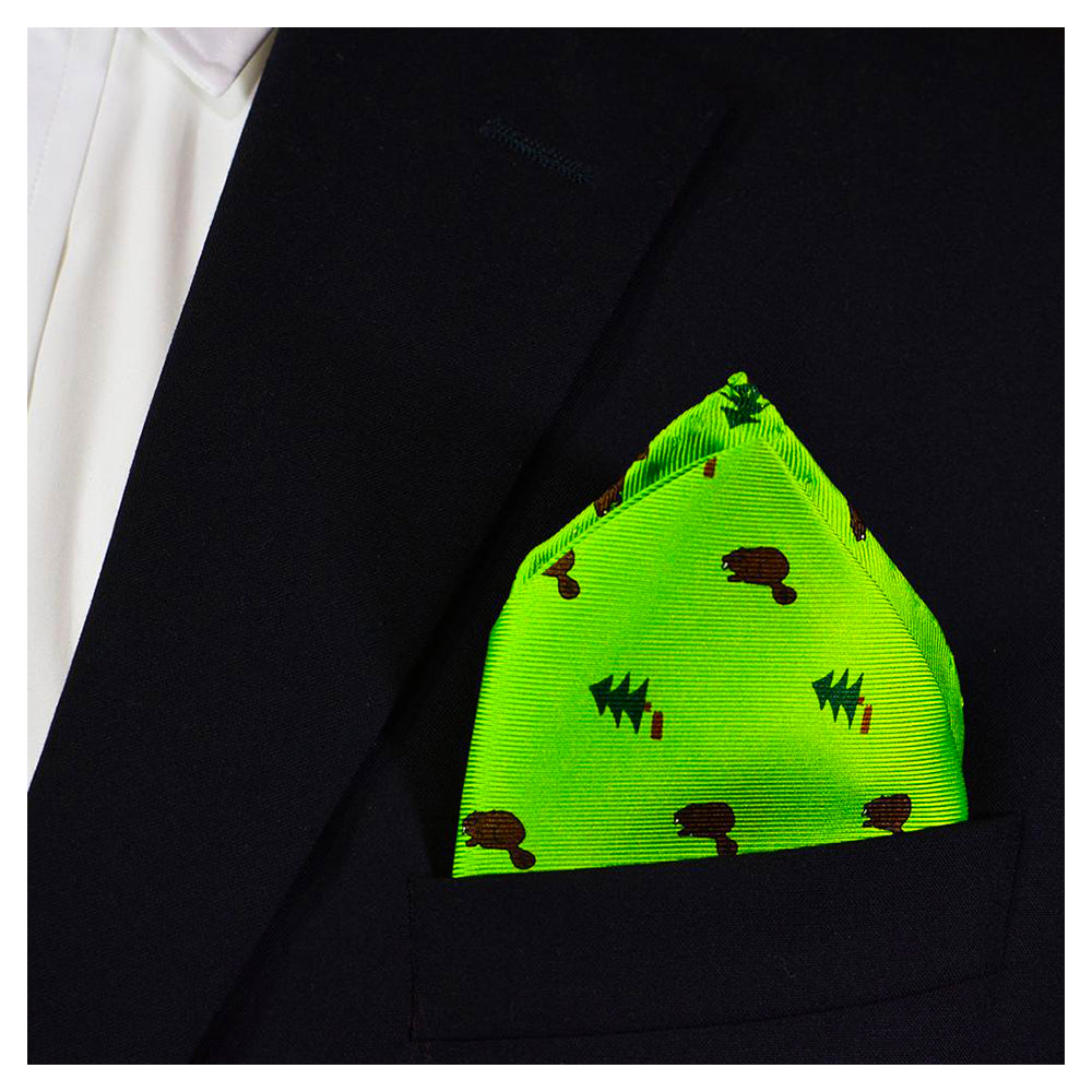 Beaver Pocket Square - Dark Beaver - SummerTies