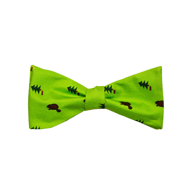 Beaver Bow Tie - Dark Beaver, Printed Silk - SummerTies