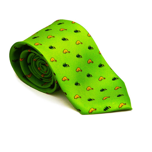 Beaver Necktie - Light Beaver, Printed Silk - SummerTies