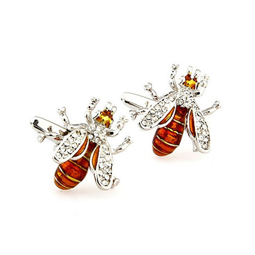 Bee Cufflinks - 3D, Gold-Brown - SummerTies