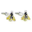Bee Cufflinks - 3D, Yellow, Black - SummerTies