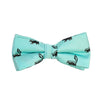 Skunk Bow Tie - Sea Green, Woven Silk, Pre-Tied for Kids - SummerTies