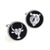 Bull and Bear Cufflinks - 3D, Silver-Black