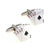 Card Cufflinks - 3D, Red-Black, 4 Aces