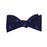 Catboat Bow Tie - Navy, Woven Silk - SummerTies
