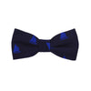 Catboat Bow Tie - Navy, Woven Silk, Pre-Tied for Kids