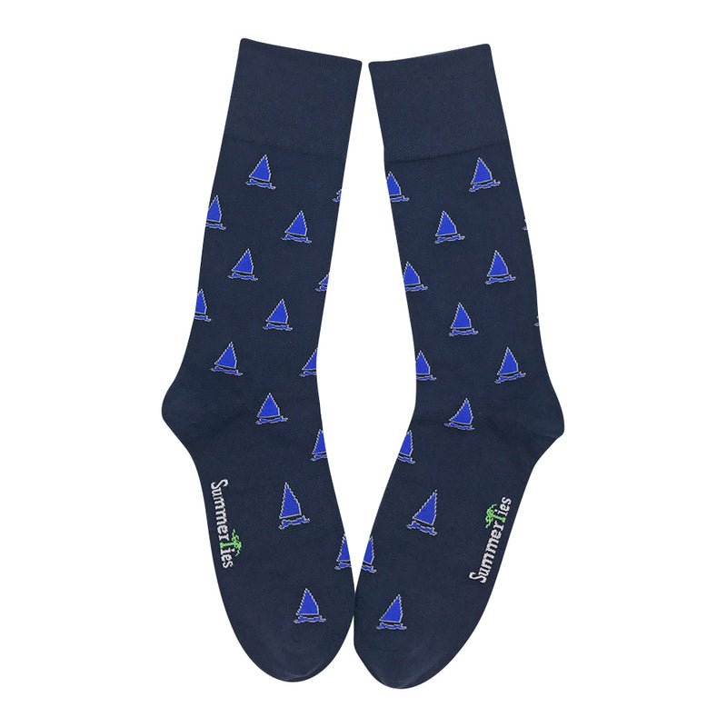 Sailboat Socks - Men's Mid Calf - SummerTies