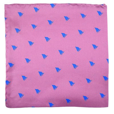 Catboat Pocket Square - Pink - SummerTies  - 2