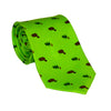 Beaver Necktie - Dark Beaver, Printed Silk - SummerTies
