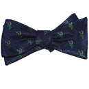 Deer Bow Tie - Navy, Buck Head, Woven Silk - SummerTies