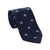 Elephant Necktie - Blue on Navy, Woven Silk
