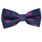 Elephant Bow Tie - Pink on Navy, Woven Silk, Pre-Tied for Kids - SummerTies