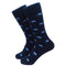 Elephant Socks - Men's Mid Calf - Blue on Navy - WHOLESALE - SummerTies