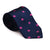 Elephant Necktie - Pink on Navy, Woven Silk