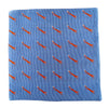 Fox Pocket Square - Blue, Woven Silk