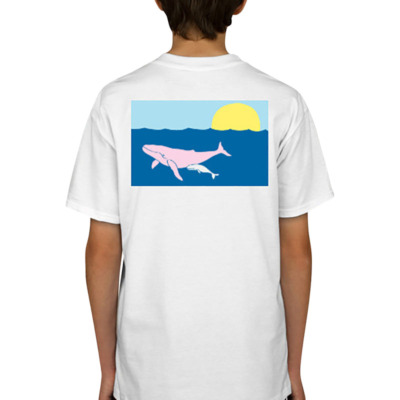 Humpback Whale T-Shirt - Short Sleeve, Kids - SummerTies