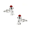 Lighthouse Cufflinks - 3D, Red