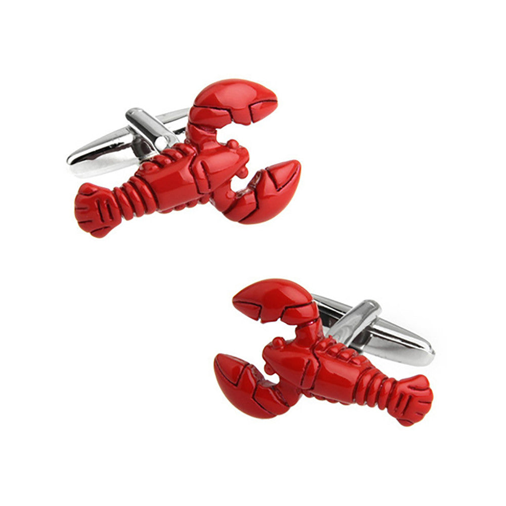 Lobster Cufflinks - 3D - SummerTies