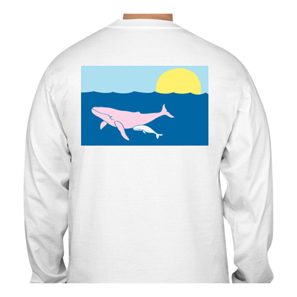 Humpback Whale T-Shirt - Long Sleeve - SummerTies