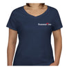 Newport Bridge 4th of July T-Shirt - Ladies V-Neck Short Sleeve - SummerTies  - 2