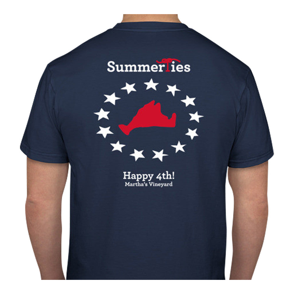 Martha's Vineyard 4th of July T-Shirt - Short Sleeve - SummerTies